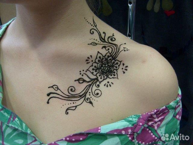 Рисунок татуировки на шее
