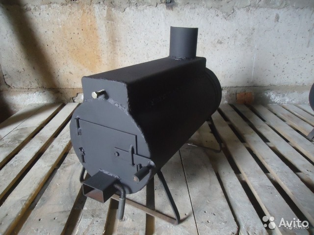 Печь на дровах для больших помещений своими руками