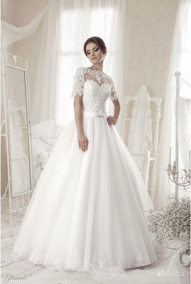 17729e17d Свадебное платье+фата (кринолин в подарок) (новое) | Festima.Ru ...
