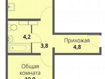 1-к. квартира, 46,8м², 4/16эт.
