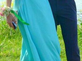 Платье бирюзово-мятного цвета
