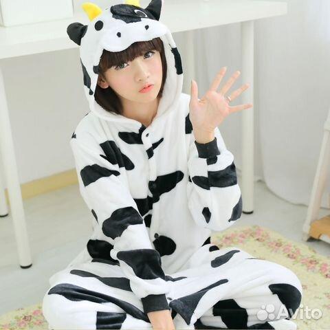 Пижама костюм кигуруми Молочная Корова (kigurumi)  77d1fb224997e