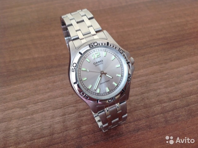 Casio кварц часы water resist mtp 1235