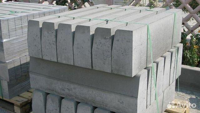 Бордюрный камень авито ширина железобетонной шпалы