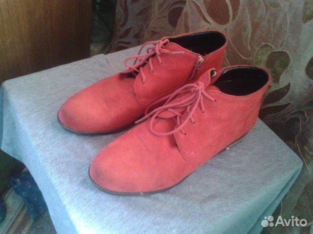 Туфли красные бархат