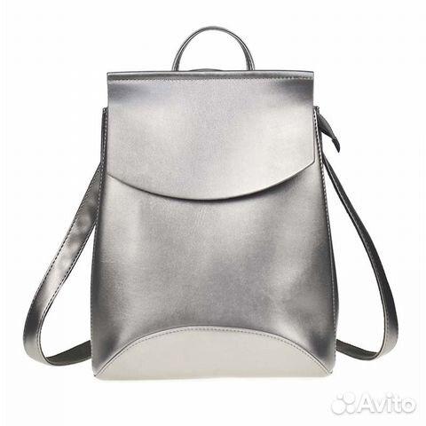 0ea71d1d5ca9 Рюкзак кожаный цвета металлик | Festima.Ru - Мониторинг объявлений