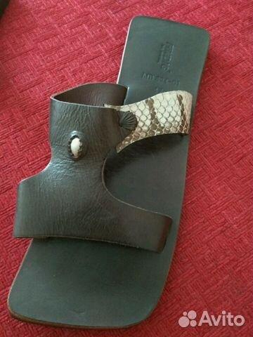 Абсолютно новые кожаные шлепанцы 89134842209 купить 5