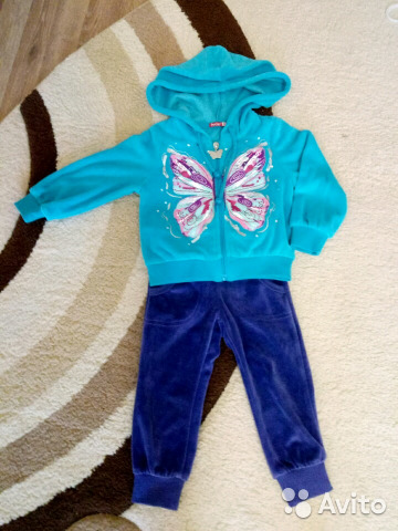 4aaf2f2e94a2 Велюровый костюм для девочки   Festima.Ru - Мониторинг объявлений