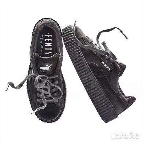 Кроссовки Puma Rihanna Velvet Grey Размеры 36-40  edc808fe07721