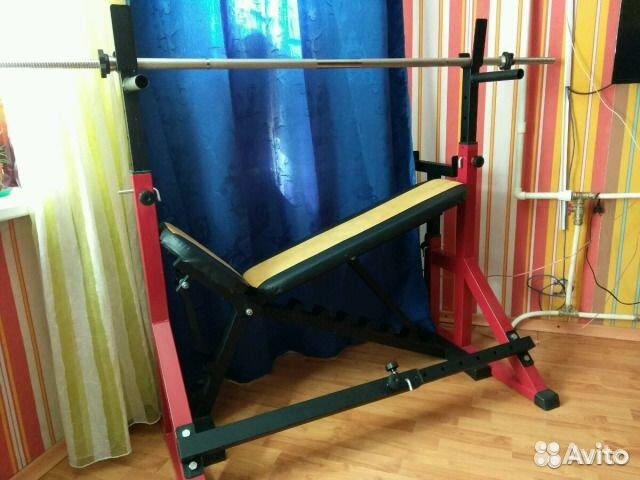 73d27396da23 Тренажёр (скамья, стойка жим-присед, штанга) купить в Санкт ...