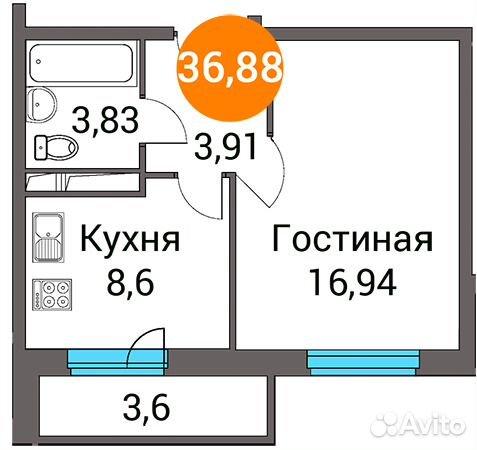 Продается однокомнатная квартира за 2 640 952 рублей. посёлок городского типа Зеленоградский, Пушкинский район, Московская область, улица Зелёный Город, 3.