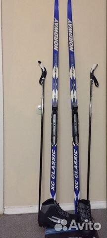 Комплект  беговые лыжи,палки для лыж,ботинки купить в Москве на ... f1304da9eab