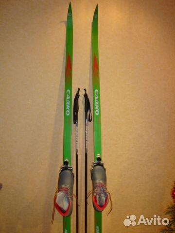 Новый Комплект беговые лыжи+палки+ботинки купить в Мурманской ... b0dec53c059