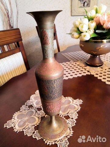 Бронзовая индийская ваза, СССР, 30 см купить 2