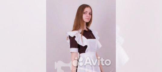 Школьная форма (коричневое платье, белый фартук) купить в Москве на Avito —  Объявления на сайте Авито 2a5d136c72f