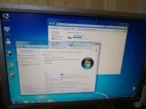 Компактный настольный пк HP Compaq + монитор