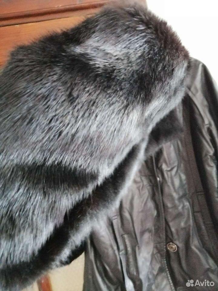 Кутка кожанная натуральная рукава норка. В комплек  89016001634 купить 6