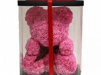 Медведь из роз (розовый)