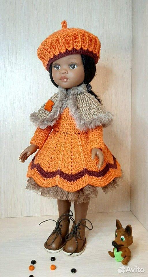 Кукольный гардероб (одежка крючком)