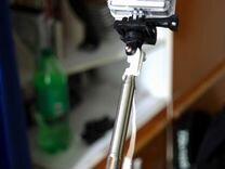Экшн-камера + монопод с креплениями