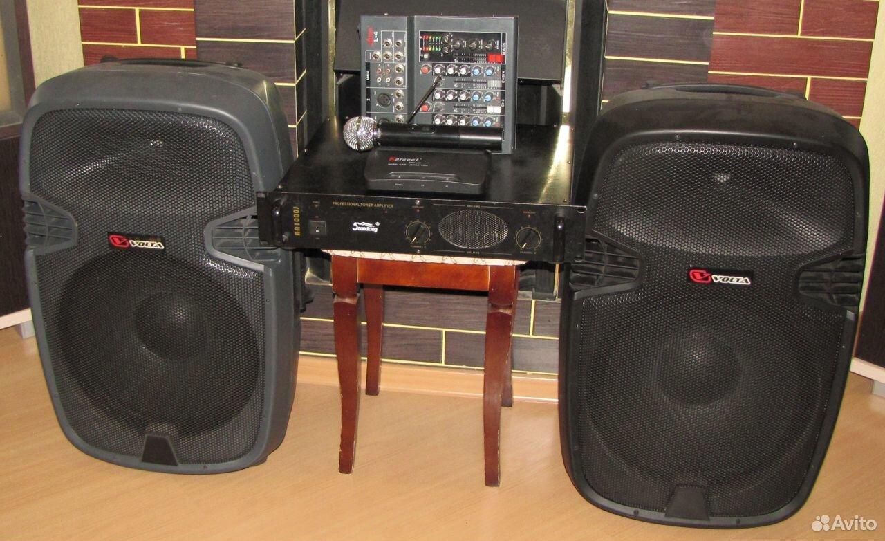 Колонки Volta 700W D15 усилитель микшер микрофон  89128899109 купить 1