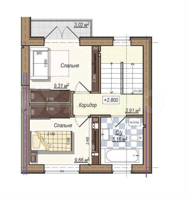 Таунхаус 81 м² на участке 3 сот.  89052457128 купить 4